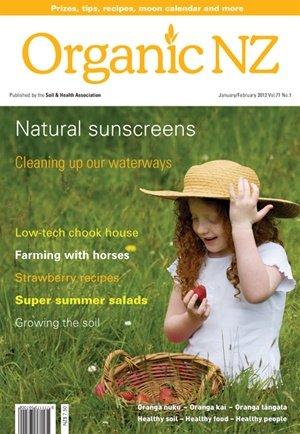 Organic NZ magazine 2012 JanuaryFebruary
