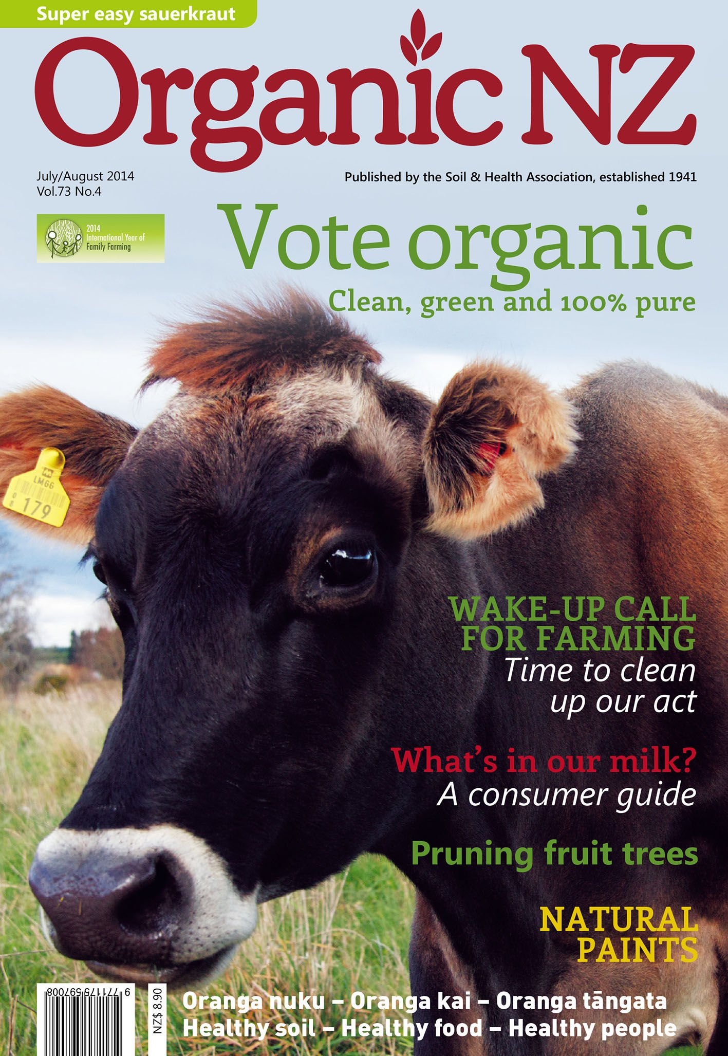 Organic NZ July/August 2014 cover