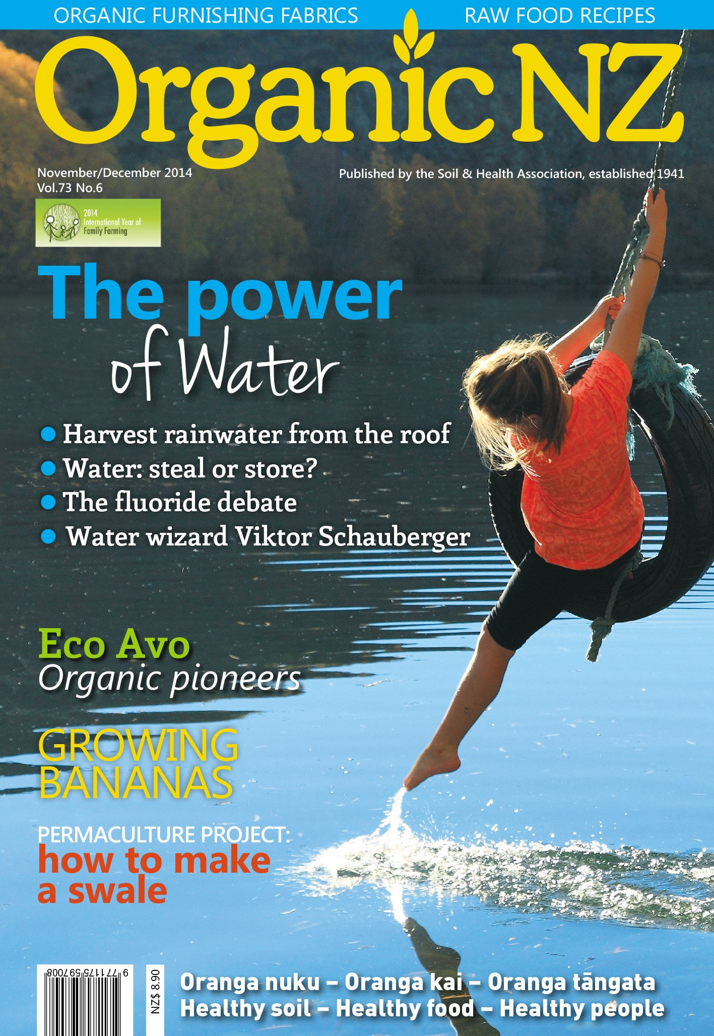 Organic NZ November/December 2014 cover