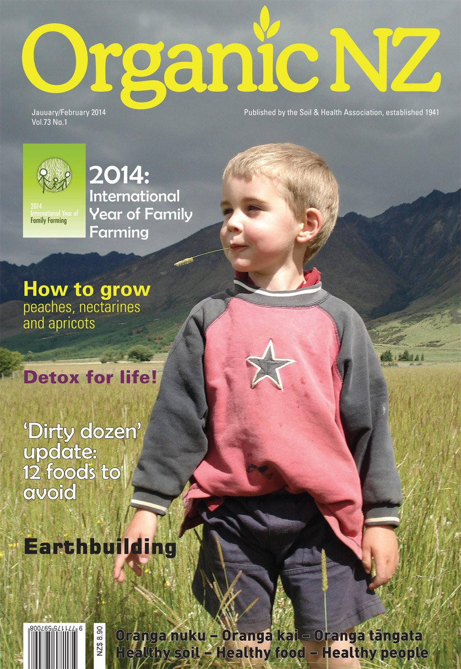 Organic NZ Jan/Feb 2014 cover