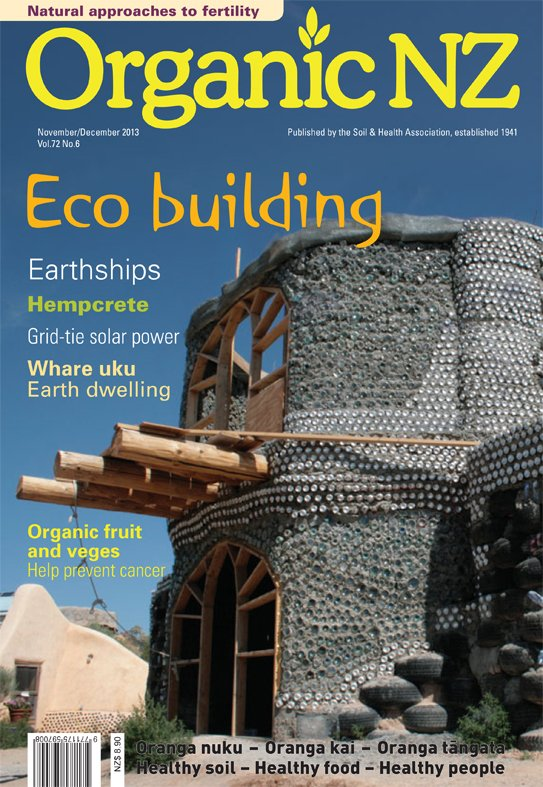 Organic NZ magazine November/December 2013 cover