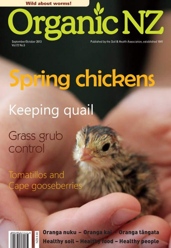 Organic NZ magazine September/October 2013 cover