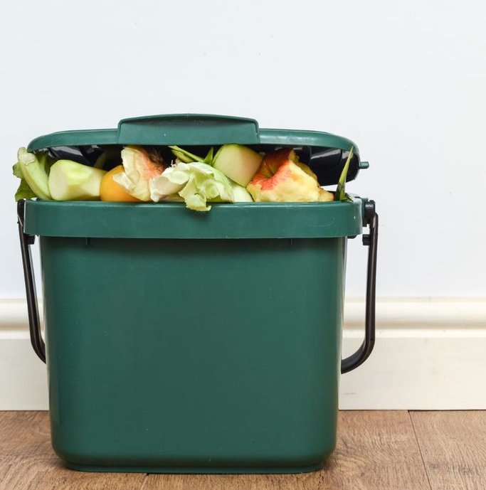 A home compost bucket.